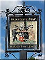 TQ6036 : The Brecknock Arms sign by Oast House Archive