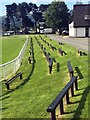 SO0352 : Seating at a show ring in the Royal Welsh Showground by Graham Hogg