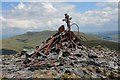 NY2627 : Cairn on Skiddaw Lesser Man by Jim Barton