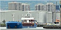 """J3475 : The """"Pilsum"""", Belfast harbour (June 2019) by Albert Bridge"""