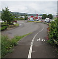 ST1588 : Footpath and cycle route into retail parks, Caerphilly by Jaggery