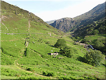 SH6251 : Disused quarry incline in Cwm Llan by Gareth James