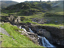 SH6251 : Industrial remains in Cwm Llan by Gareth James