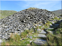SH6152 : Watkin Path passing through the waste tips of South Snowdon Quarry by Gareth James