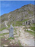 SH6154 : Last stretch of the Watkin Path to Snowdon's summit by Gareth James