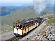 SH6054 : Snowdon Mountain Railway near the summit by Gareth James