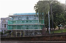 SK9771 : Building under scaffolding, Lincoln by David Howard