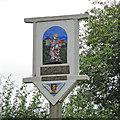 TM0799 : Morley St. Peter village sign (detail) by Adrian S Pye