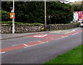 SS9386 : Warning signs - traffic lights and cyclists, Blackmill by Jaggery