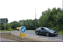 TF1309 : Roundabout on Peterborough Road, Market Deeping by David Howard
