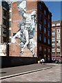 "NS5965 : Commonwealth Games mural ""Badminton"", Wilson Street, Glasgow by Rudi Winter"