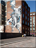 "NS5965 : Commonwealth Games mural ""Badminton"", Wilson Street, Glasgow by Rudi Winter"