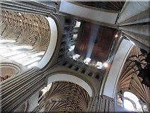 TG2308 : Inside the tower, Norwich Cathedral by Roger Cornfoot