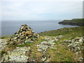 SH2990 : Cairn at Porth y Dwfr, Anglesey by Jeff Buck