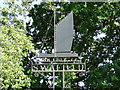 TG2832 : Swafield village sign with detail of a wherry by Adrian S Pye