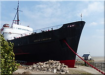 SJ1779 : Prow of the TSS Duke of Lancaster (1955) by Mat Fascione