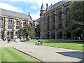NS5666 : West quadrangle, Gilbert Scott Building, University of Glasgow by Rudi Winter