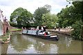 SP5366 : Steam narrow boat Adamant at Braunston Turn by Chris Allen