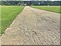 SK3582 : Graves parkrun: the half distance marker by Graham Hogg