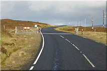 HU3277 : Cattle Grid on the A970 by David Dixon