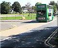 ST3091 : Green double-decker bus, Almond Drive, Malpas, Newport by Jaggery