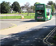 ST3091 : Green double-decker bus, Almond Drive, Malpas, Newport by Jaggery