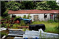 H3560 : Old farm buildings and rusty tractor, Drumskinny by Kenneth  Allen