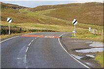 HU3467 : A970 between Brae and Mavis Grind by David Dixon