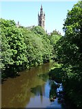 NS5666 : Tower on the University of Glasgow by Philip Halling