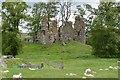 NS9521 : Crawford Castle ruins by Jim Barton