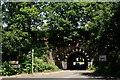 SU9456 : Railway Bridge at Brookwood by Peter Trimming