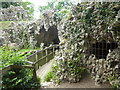 TQ0959 : The entrance to the Crystal Grotto at Painshill by Marathon