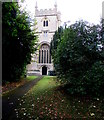 SU1659 : Tower of St John the Baptist church, Pewsey by Jaggery