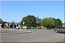 SP9063 : Roundabout on the A509, Wollaston by David Howard
