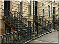 NS5767 : Cast iron railings, Belmont Crescent, Hillhead by Alan Murray-Rust