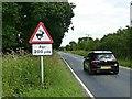 SE7729 : Warning sign on Long Lane by Graham Hogg