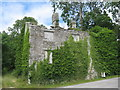 NX4856 : Derelict house at Kirkmabreck by M J Richardson