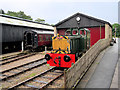 SE0335 : Hudswell Clarke Diesel Shunter Outside the Shed at Oxenhope by David Dixon