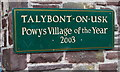 SO1122 : Talybont-on-Usk - Powys Village of the Year 2003 by Jaggery