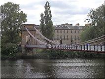 NS5864 : Suspension Bridge, Glasgow by Rudi Winter