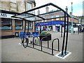 NS5574 : Bicycle rack, Milngavie by Richard Sutcliffe