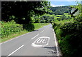 SO1223 : End of the 30mph zone, Station Road, Talybont-on-Usk by Jaggery