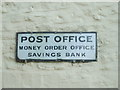 ST6839 : Old post office sign by Neil Owen