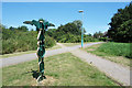 ST9273 : Signpost where paths cross by Des Blenkinsopp