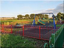 SJ5990 : Children's Playground, Dallam Recreation Ground by David Dixon