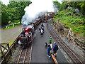 SH6441 : The Ffestiniog Railway at Tan-y-Bwlch by Jeff Buck