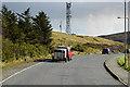 HU4063 : Antenna on the Hillside above Voe by David Dixon