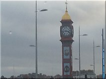 SY6879 : Jubilee Clock and modern street lights by Car Man