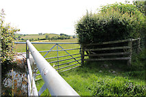 SD5273 : A walk along Kirkgate Lane: views from the highest point (12e) by Kate Jewell