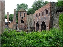 SJ6903 : Blast furnaces, Blists Hill Museum by Philip Halling